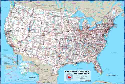 Us Highway Map With Cities United States Map with Cities